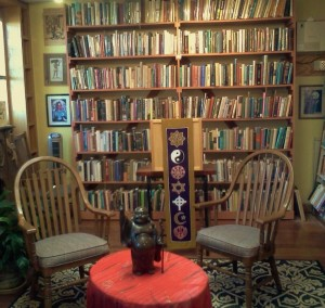 In our East Nook is where you will find books on Buddhism and Christianity.