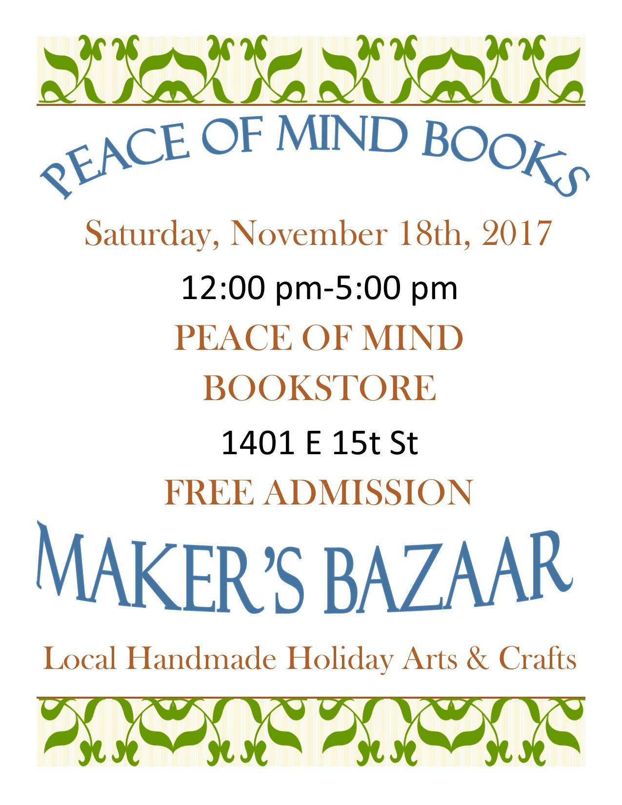 Maker's Bazaar Arts and Crafts